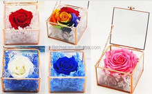 Rose gold with a lid greenhouses flower box micro landscape glass crafts birthday crafts.