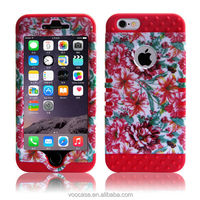 Yuqico Customize wholesale phone case with factory price made in China silicone+pc phone case cover for iPhone 6
