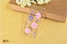 Dry pressed natural real flower cell phone accessory forM2 case glitter handmade gift transparant resin flower for sony