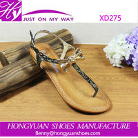 latest design China wholesale ladies fancy flat shoes