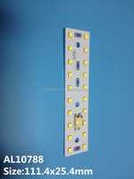 LED strip T2.0mm pcb with led and connector 2835 led chip aluminum pcb strip
