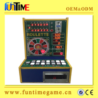 tiny table top slot roulette game machine for game center / roulette machine casino