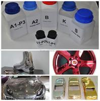Colorful liquid chrome paint, mirror chrome spray paint,chrome paint for wheels