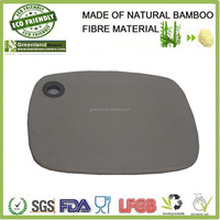 square custom bamboo fibre kitchenware cutting board with hanging hole, bamboo cutting board