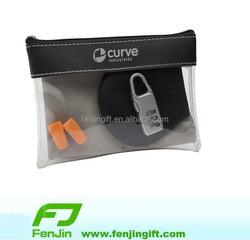 clear plastic pvc leather zipper pouch