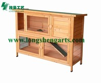 Two layer wooden Rabbit hutch