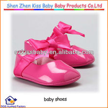 newest fashionable baby girl shoes with bright color and leather baby shoes wholesale baby shoes