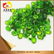 Top Quality Wholesale Oval Shaped Natural Quartz Crystal Chrome Diopside