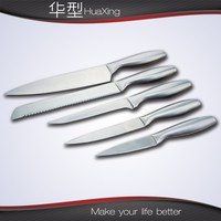 Hollow handle stainless steel 5pcs kitchen knife set