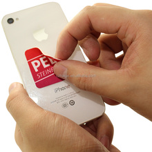 2015 new desgin pvc cell phone cleaner