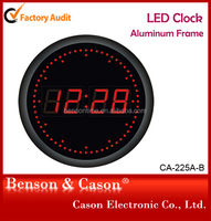 LED Digital Wall Clock With Round Shape