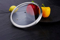 Excellent heat endurance H type glas lid with/without steam hole