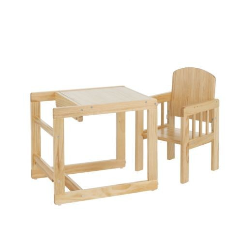 Obaby Cube Wooden Baby Toddler Feeding Highchair Table