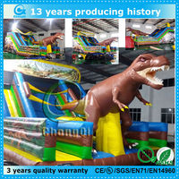 durable inflatable dinosaur slide/inflatable dinosaur bouncer