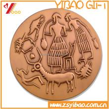 Emboss custom design antique bronze 3D ancient