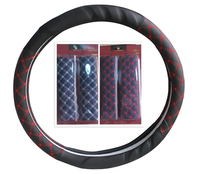 car interior decorations steering wheel cover safety belt covers