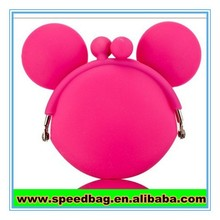 Mikey head shape Eco-friendly silicone kids coin purse funny coin purse