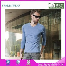 China Manufacturer V-Neck T-Shirts For Men, Bulk Blank Men Long Sleeve T-Shirts