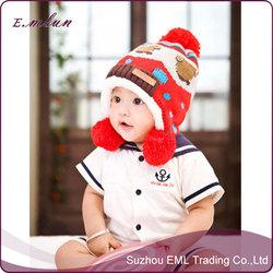 2015 Lovely pattern children knitted hat/warm hat wholesale
