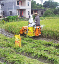Small Equipted Seat Manual Grain Collecting Rice Cutting Machine