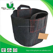 Hydroponics Breathable Fabric Plant Grow Pot With Handle/Garden plant grow pot/fabric tree planting bags