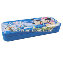 pro-environment double-deck tin pencil box.pencil tin box,pencil box