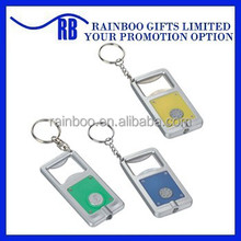 Plastic Led Keychain with bottle opener ,led light keychain,led keychain light