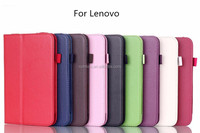 Colorful leather case with card slot flip case for Lenovo A5500