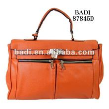 Ostrich embossed leather handbags