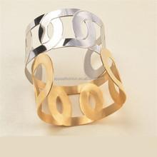 Fashion women's stainless steel shining arm cuff