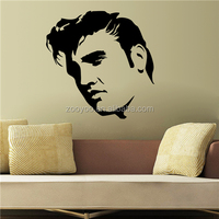 ZOOYOO head portrait wall decal new design vinyl stickers painting wall frame mural painting (Elvis1)
