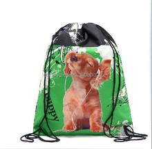 Lovely electronic dog leash receive bag bag drawstring backpack beam shoe bag
