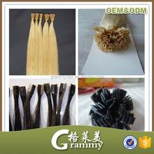 Directly factory top quality Keratin I tip Nail hair Pre Bonded 100% Human Hair