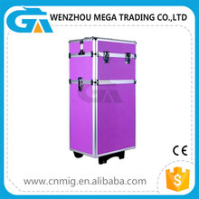 Aluminum professional beauty trolley case/ professional cosmetic trolley case