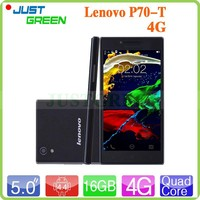 Lenovo P70-T mobile phone MT6732 Quad Core 5 inch Android 4.4 phone RAM 2GB ROM 16GB Dual SIM LTE new products