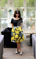 Special offer New Fashioned Luxury Lady long skirt pattern