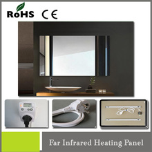decorative 450w infrared carbon electric room heater with heat-resistant mirror infrared carbon fiber heating