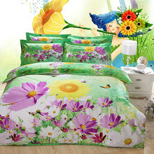 Hot sale 100% Polyester 3D Flower design bed sheet (S20)