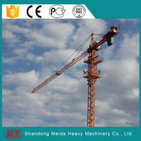 Building tower crane with undercarriage foundation,Self Erecting 60m Jib Tower Crane