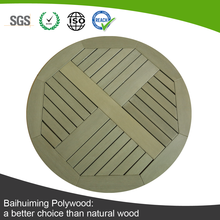All-weather Round Shape Plastic Wood Table Top