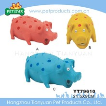 Latex pig shaped pet toy with squeaker