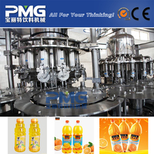 4-in-1 Plastic bottle fruit juice filling and packing machine for screw cap