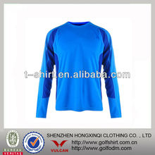 Classy fresh men's long sleeve blue plain cool dry t-shirt
