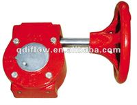 cast iron gear reduction box for valve