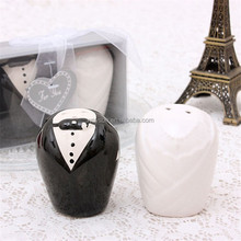 Wedding favors gifts-- Bride and Groom Salt and Pepper Shakers formal dress Salt and Pepper Shaker