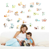 ZOOYOO pvc alphabet wallpaper alphabet for children learning baby nursery wall decals (877)