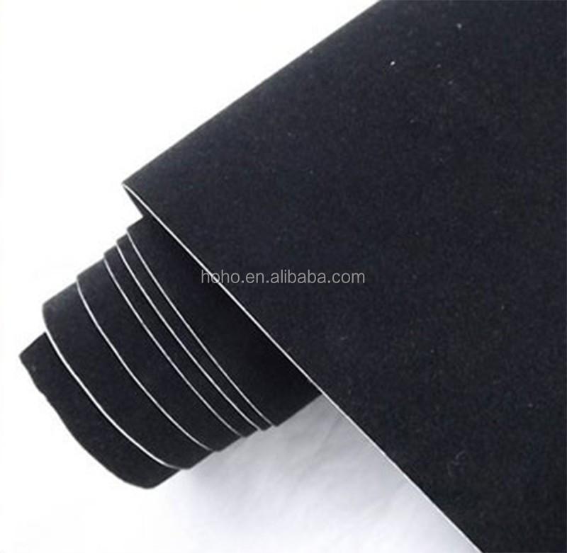 Hoho rouge velours tissu voiture vinyle wrap film suede for Tissu voiture interieur