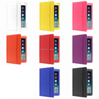 """9.7"""" Plaid Grain Trifold Flip Leather Case With Clear Transparent Back Cover For Ipad Air2"""