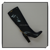 sexy high heel rubber boot for women