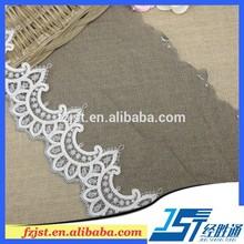 Perla bordado organza cuello del ajuste del cordón